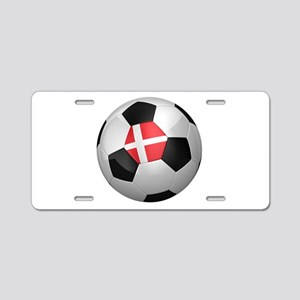 Danish soccer ball Aluminum License Plate