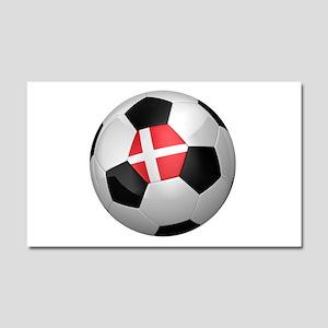 Danish soccer ball Car Magnet 20 x 12