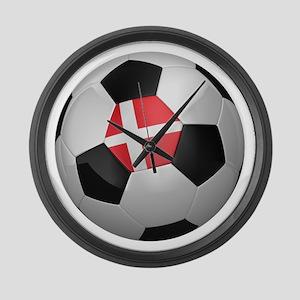 Danish soccer ball Large Wall Clock