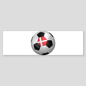 Danish soccer ball Sticker (Bumper)