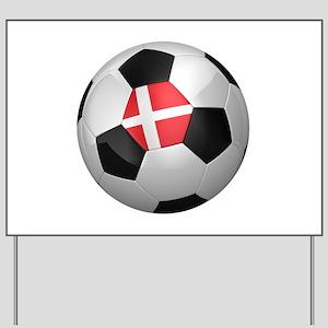 Danish soccer ball Yard Sign