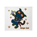 Ninja cat Throw Blanket