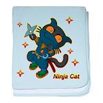 Ninja cat baby blanket