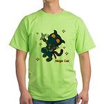 Ninja cat Green T-Shirt