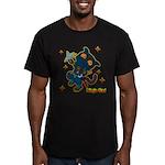 Ninja cat Men's Fitted T-Shirt (dark)