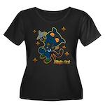 Ninja cat Women's Plus Size Scoop Neck Dark T-Shir