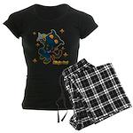 Ninja cat Women's Dark Pajamas