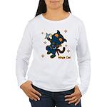 Ninja cat Women's Long Sleeve T-Shirt