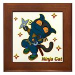 Ninja cat Framed Tile