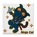 Ninja cat Tile Coaster