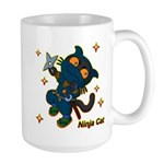 Ninja cat Large Mug