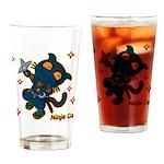 Ninja cat Drinking Glass