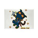 Ninja cat Rectangle Magnet (10 pack)
