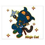 Ninja cat Small Poster