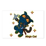 Ninja cat Postcards (Package of 8)