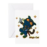 Ninja cat Greeting Cards (Pk of 20)