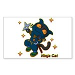 Ninja cat Sticker (Rectangle 50 pk)