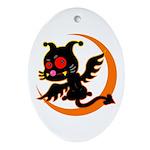 Devil cat 1 Ornament (Oval)