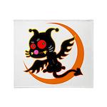 Devil cat 1 Throw Blanket