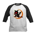 Devil cat 1 Kids Baseball Jersey