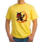 Devil cat 1 Yellow T-Shirt