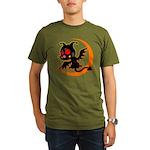Devil cat 1 Organic Men's T-Shirt (dark)
