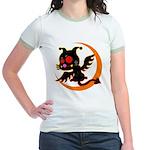 Devil cat 1 Jr. Ringer T-Shirt