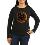 Devil cat 1 Women's Long Sleeve Dark T-Shirt