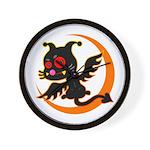 Devil cat 1 Wall Clock