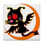 Devil cat 1 Tile Coaster