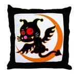Devil cat 1 Throw Pillow