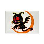 Devil cat 1 Rectangle Magnet (100 pack)