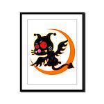 Devil cat 1 Framed Panel Print