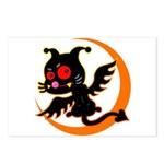 Devil cat 1 Postcards (Package of 8)