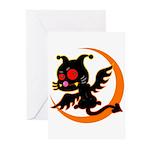 Devil cat 1 Greeting Cards (Pk of 10)