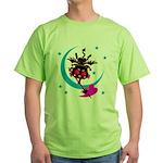 Devil cat 2 Green T-Shirt