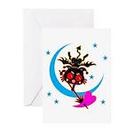 Devil cat 2 Greeting Cards (Pk of 20)