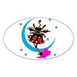 Devil cat 2 Sticker (Oval 50 pk)