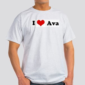 I Love Ava Ash Grey T-Shirt