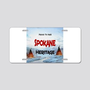 Spokane Heritage Aluminum License Plate