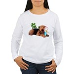 Airedale at the Beach by Vampire Dog Women's Long