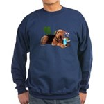 Airedale at the Beach by Vampire Dog Sweatshirt (d