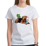 Airedale at the Beach by Vampire Dog Women's T-Shi