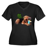 Airedale at the Beach by Vampire Dog Women's Plus