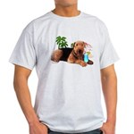 Airedale at the Beach by Vampire Dog Light T-Shirt
