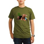 Airedale at the Beach by Vampire Dog Organic Men's