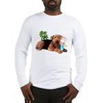 Airedale at the Beach by Vampire Dog Long Sleeve T