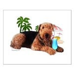 Airedale at the Beach by Vampire Dog Small Poster