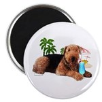 Airedale at the Beach by Vampire Dog Magnet