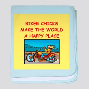 biker chicks baby blanket